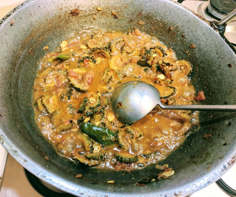 Bitter gourd curry 13