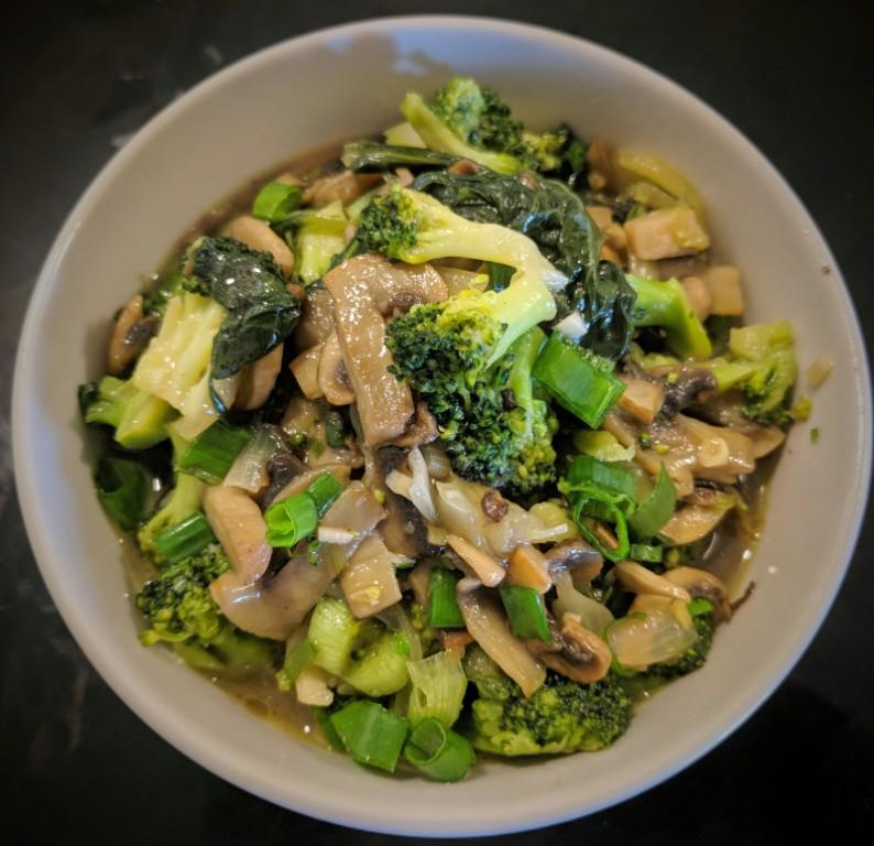Bok choy, broccoli & mushroom
