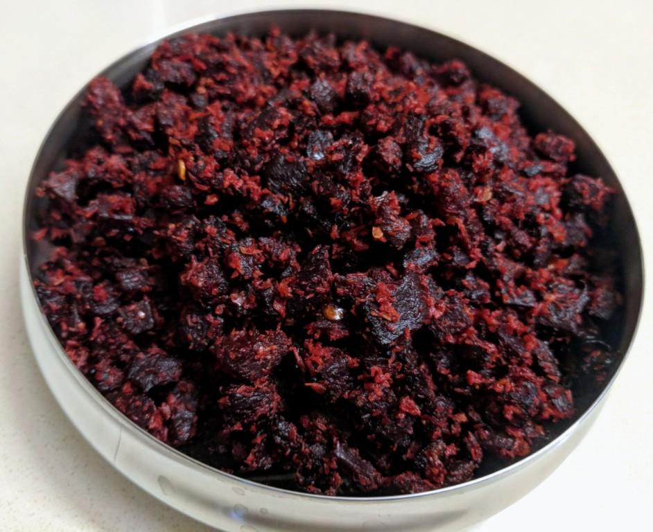 Beetroot poriyal 6